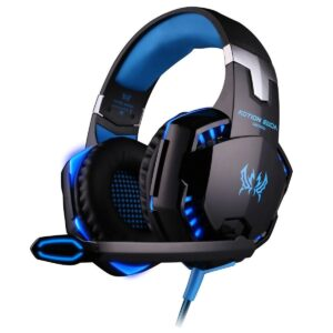 Kotion Each Over the Ear Headsets with Mic and LED - G2000 Edition (Black/Blue)