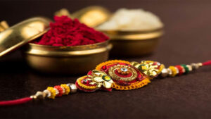 Rakhi Gift for Brother with Roli and Chawal