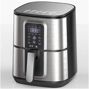 Stok Air Fryer Max LED Digital Touchscreen with 8 Presets,6.5 Liter 1800-Watt